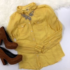 J. Crew Yellow Button Up